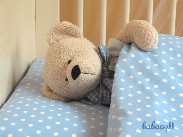 Kinderbettwäsche Polka Dots blau