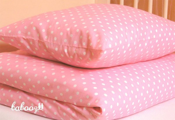 Kinderbettwäsche Polka Dots rosa