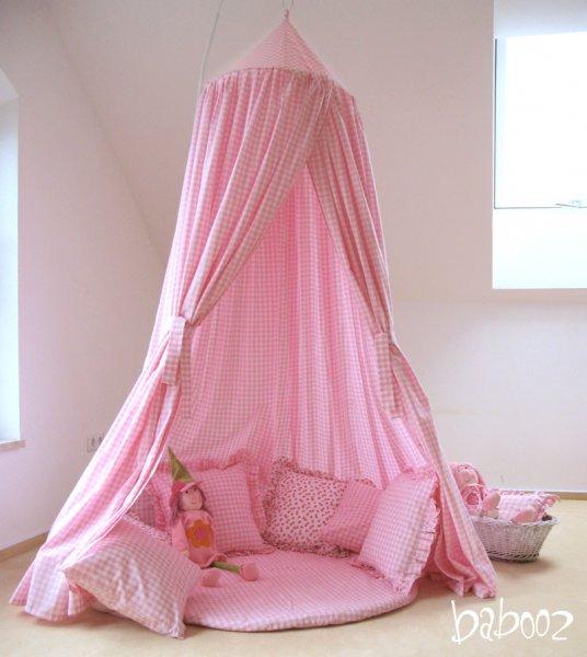 Hängezelt Landhaus rosa-weiß
