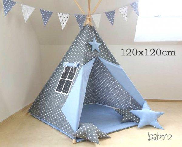 Tipi 120 dunkelgrau:blau