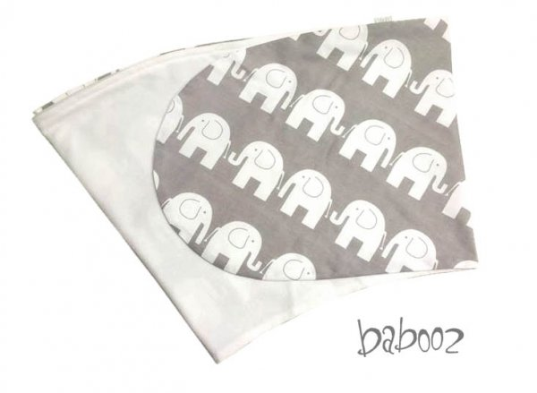 Stillkissen-Bezug grau Elefant : Nicki weiß