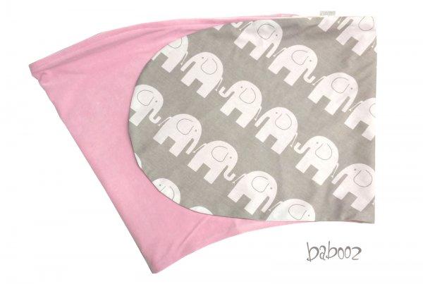 Stillkissen-Bezug grau Elefant : Nicki rosa