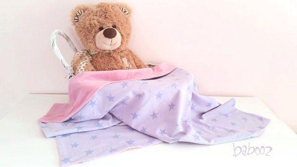 Babydecke Nicki rosa : Jersey lila