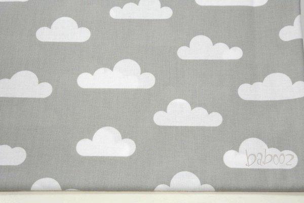 Stoff grau mit weißen Wolken