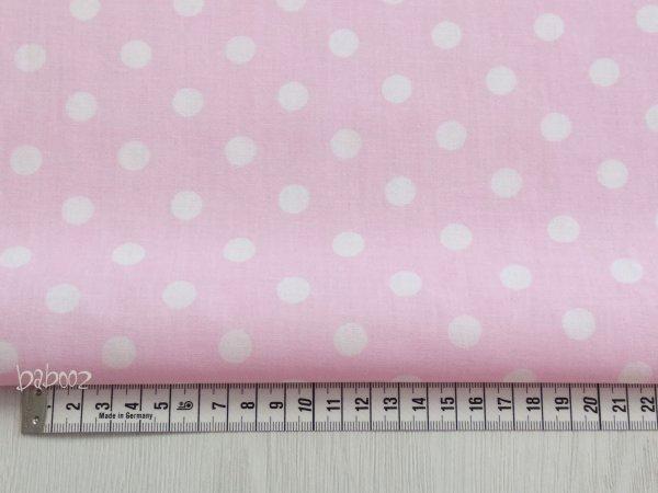 Baumwollstoff Polka Dots rosa-weiß