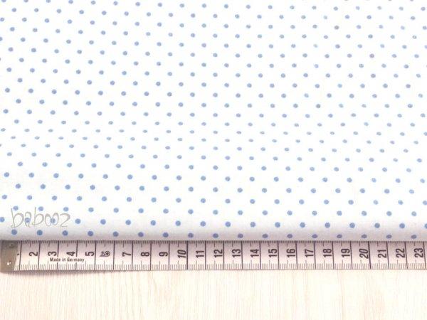 Baumwollstoff Little Dots weiß-blau