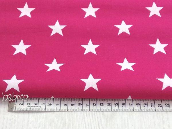 Stoff Baumwolle pink mit Sternen