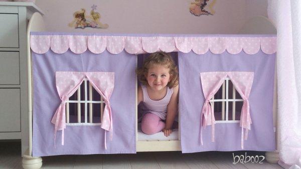 Spielhaus für Kinderbett lila