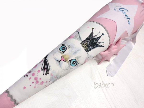 Schultüte mit Namen Katze mit Krone