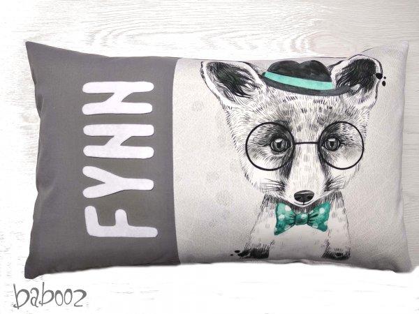 Kissen mit Namen, Hund mit Brille