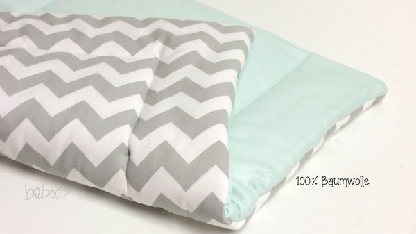 Wickelunterlage chevron : mint