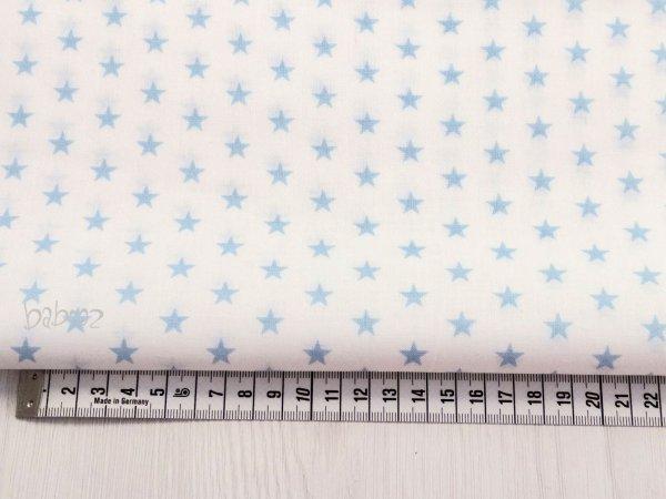 Baumwollstoff weiß mit blauen Sternen
