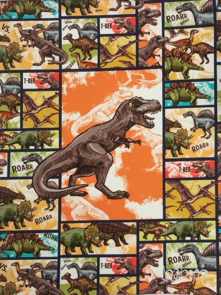 Panel Dino Rex comics, Jersey