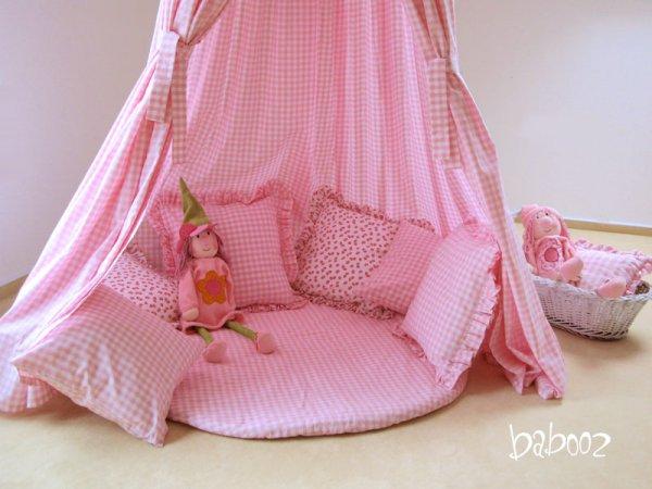 Decke rund Landhaus rosa