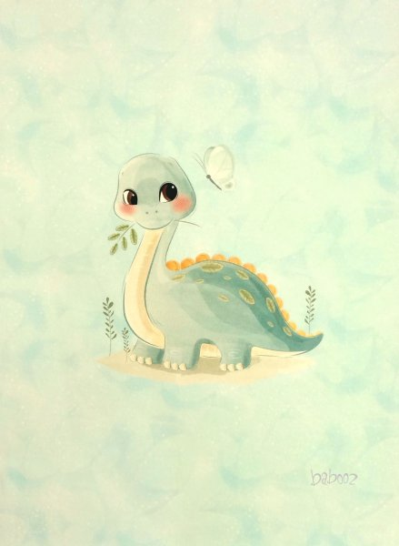 Panel Dino Baby, French Terry