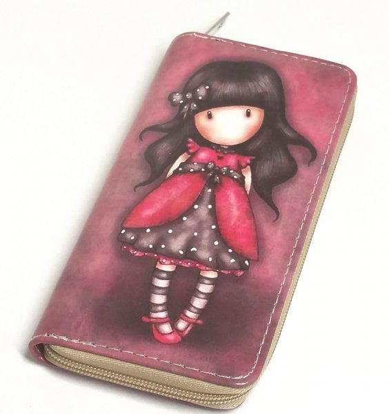 Portemonnaie Mädchen mit Schleife, bordeaux