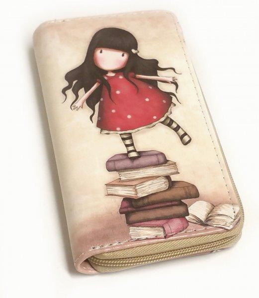 Portemonnaie Mädchen auf den Büchern, beige