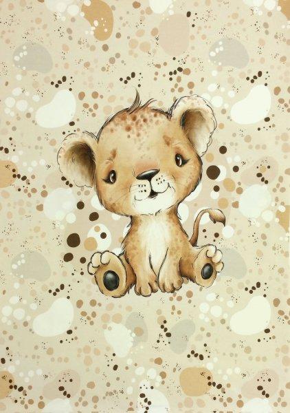 Panel Baby Löwe beige
