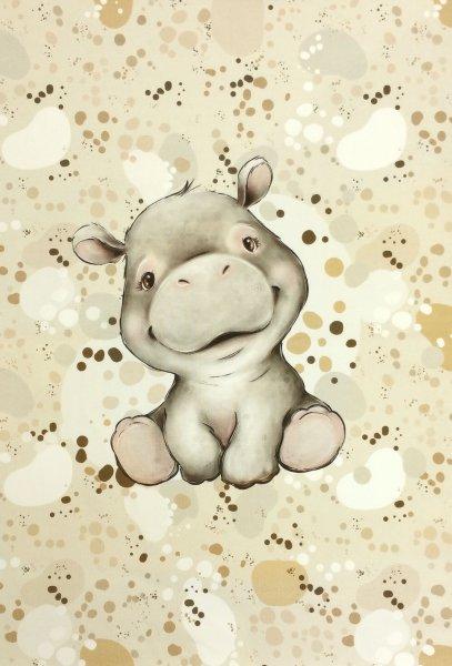Panel Baby Nilpferd beige