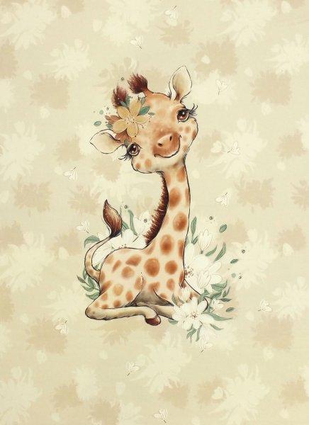 Panel Baby Giraffe beige